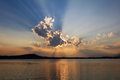 Biblical sunset cloudscape Royalty Free Stock Photo