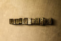 BIBLIOGRAPHY - close-up of grungy vintage typeset word on metal backdrop Royalty Free Stock Photo