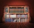Biblioteca clásica muebles antiguos Fotos de archivo