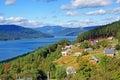 Bicaz dam lake Royalty Free Stock Photo