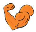 Biceps illustration vector of a Royalty Free Stock Photos
