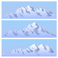 The bichromatic simple image of mountains. Stock Image