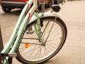 Bici verde Fotografía de archivo libre de regalías