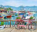 The bicycle in Alanya port