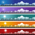 Bicycle Banner Set Stock Images