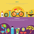 Bicycle Banners Set