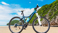 Bicycle and beach on daylight sport Stock Image