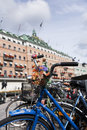 Bicycle in beautiful stockholm close shot of a bycicle Stock Photography