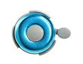 Bicycle bell blue isolated on white background Royalty Free Stock Photo