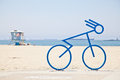 Bicycle bike rack at the beach Royalty Free Stock Photo