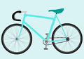 Bicycle blue illustration on isolated background Royalty Free Stock Photos