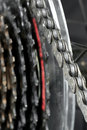 Bicycle chain closeup of a Stock Photography
