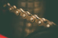 Bicycle chain detail Royalty Free Stock Photo
