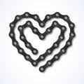 Bicycle chain heart illustration Stock Photo