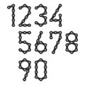 Bicycle chain numbers illustration Stock Photos