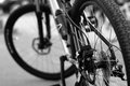 Bicycle close up of wheels Royalty Free Stock Photography