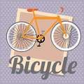 Bicycle design over dotted background vector illustration Royalty Free Stock Images