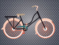 Bicycle design over dotted background vector illustration Stock Photography