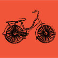 Bicycle design over orange background vector illustration Stock Image