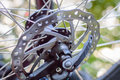 Bicycle disk brake rotor Royalty Free Stock Photo