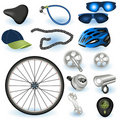 Bicycle equipment Royalty Free Stock Photos