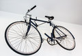 Bicycle fixed gear on white wall Stock Photos