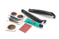 Bicycle flat tire repair kit Royalty Free Stock Photo