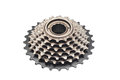 Bicycle gear cogwheel on white Royalty Free Stock Image