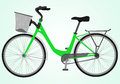 Bicycle green illustration on isolated background Royalty Free Stock Photos