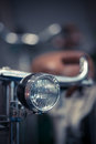 Bicycle headlight detail Royalty Free Stock Photo