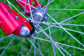 Bicycle hub Stock Images
