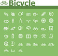 Bicycle icon set of the simple related icons Royalty Free Stock Image