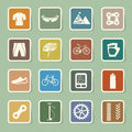 Bicycle icons set illustration eps Stock Photos
