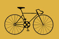 Bicycle the illustration poster Royalty Free Stock Photos