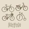 Bicycle illustration of riding on the vector Stock Photos