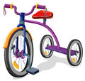 A bicycle illustration of on white background Stock Images
