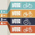 Bicycle infographics over gray background vector illustration Royalty Free Stock Images