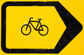 Bicycle Lane Diversion Sign Royalty Free Stock Photo