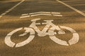 Bicycle lane in evening weekly Stock Photo