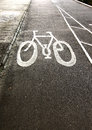 Bicycle lane on the road Royalty Free Stock Photography