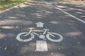 Bicycle lane road sign Royalty Free Stock Photo