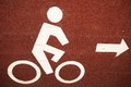 The bicycle lane sign of Stock Photos