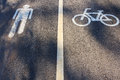 Bicycle Lane and walk way Royalty Free Stock Photo