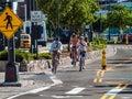 Bicycle Lanes New York Royalty Free Stock Photo