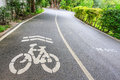 Bicycle lanes in park bangkok thailand Royalty Free Stock Image