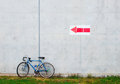 Bicycle leaning against a wall Royalty Free Stock Image
