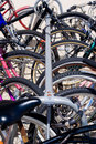 Bicycle Locked-up Royalty Free Stock Photography