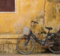 Bicycle and old house in Hoi an Royalty Free Stock Photography