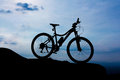 Bicycle park on the mountain twilight time Stock Photography