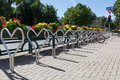Bicycle parking Royalty Free Stock Photo